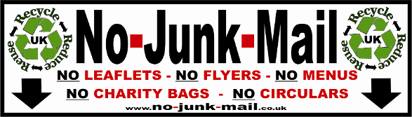 No Junk Mail Signs, No Junk Mail Stickers, Junk Mail Sign, Junk Mail Sticker,